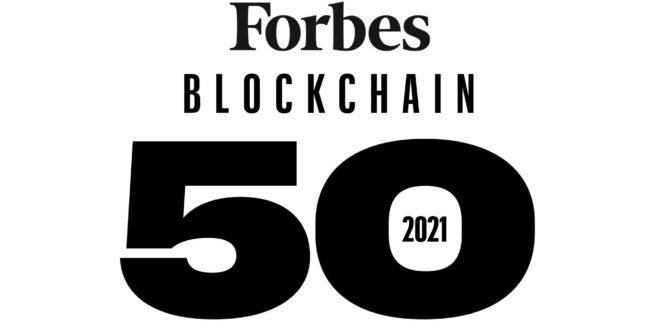 بلاک چین 50 ویرایش 2021 فوربز