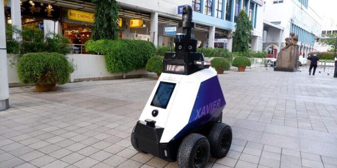 گشت زنی ربات ها برای کمک به انسان در سنگاپور